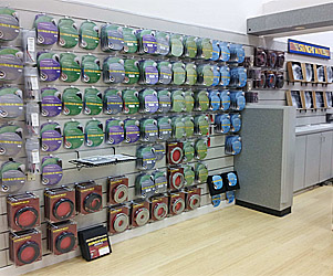 Straight Wire retail wall display
